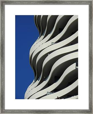 Concrete Waves Framed Print