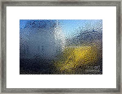 Condensation 03 - White House And Yellow Lorry Framed Print by Pete Edmunds