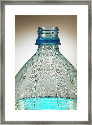 Condensation On Water Bottle Framed Print by Mark Sykes