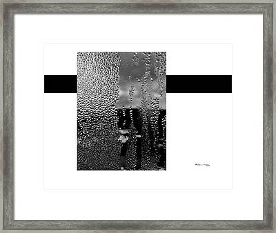 Condensed Window Framed Print