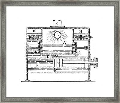 Condenser Steam Engine Framed Print by Science Photo Library