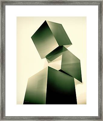 Condescending Cubes Framed Print