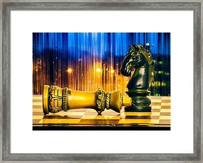 Condescending Knight Framed Print