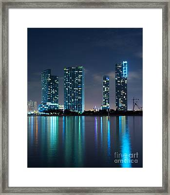 Framed Print featuring the photograph Condominium Buildings In Miami by Carsten Reisinger