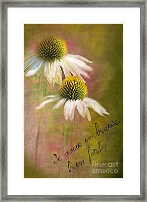Cone Flower Couple Framed Print