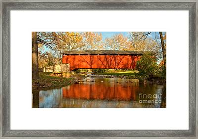 Conestoga River Reflections Crop Framed Print by Adam Jewell
