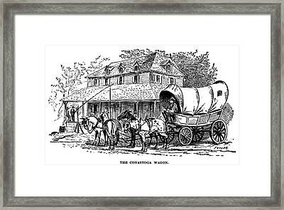 Conestoga Wagon Framed Print by Granger