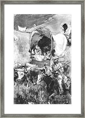 Conestoga Wagons 1890 Framed Print by Padre Art