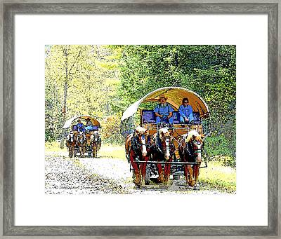 Conestoga Wagons Framed Print by A Gurmankin