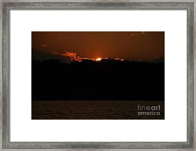 Conesus Lake At Dusk Framed Print by Steve Clough