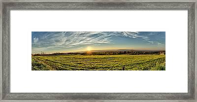 Conewango Sunset Framed Print
