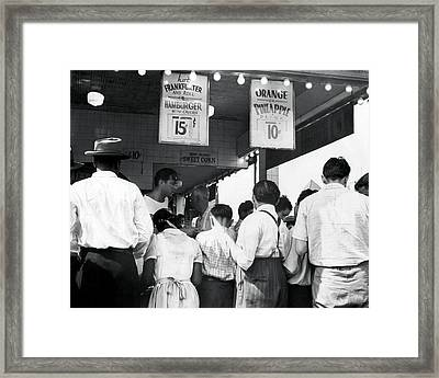 Coney Island - Nathans Hotdog Stand Framed Print by MMG Archives