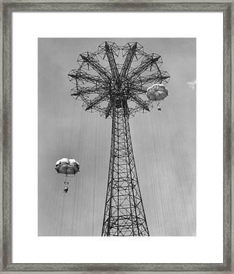 Coney Island - Parachute Jump 1 Framed Print by MMG Archives