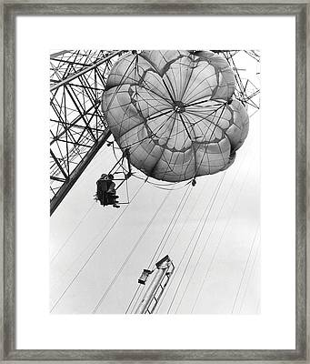 Coney Island - Parachute Jump 2 Framed Print by MMG Archives