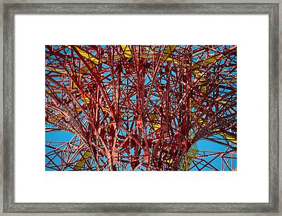 Coney Island Abstract Expressionist Framed Print