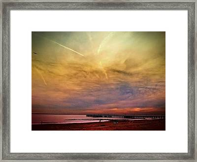 Coney Island After Sandy Framed Print by Frank Winters