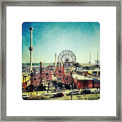 Coney Island Amusement Framed Print