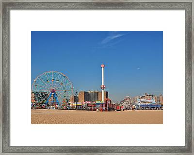 Coney Island Astroland Framed Print by Jim Poulos
