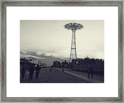 Coney Island Dusk Framed Print