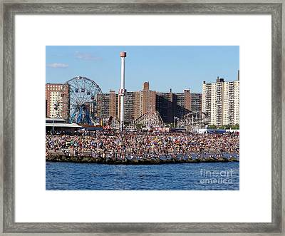 Framed Print featuring the photograph Coney Island by Ed Weidman