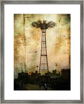 Coney Island Eiffel Tower Framed Print
