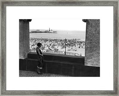 Coney Island In New York City Framed Print