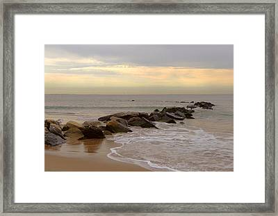 Coney Island Jetty Framed Print by Frank Winters