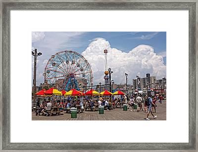 Coney Island June 2013 Framed Print