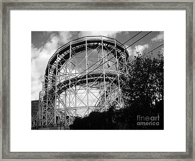 Coney Island Roller Coaster Framed Print