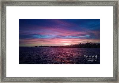 Coney Island Summertime Sunset Framed Print