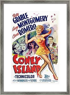 Coney Island, Us Poster Art, Betty Framed Print