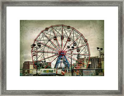 Coney Island Wonder Wheel  Framed Print