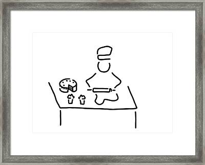 Confectioner Pastry Cook Framed Print by Lineamentum