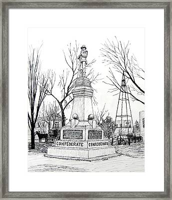 Confederate Monument In Bentonville Arkansas Framed Print by Ron Enderland