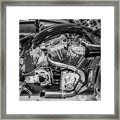 Confederate B120 Wraith Motorcycle - Square - Black And White Framed Print by Ian Monk