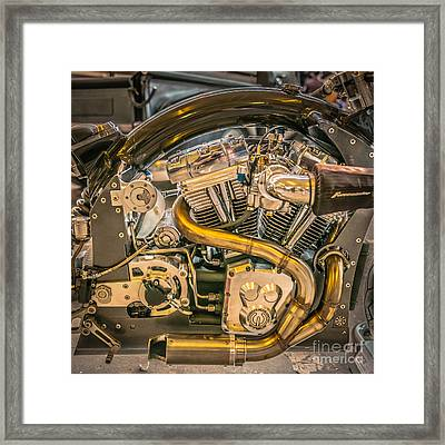 Confederate B120 Wraith Motorcycle - Square Framed Print by Ian Monk