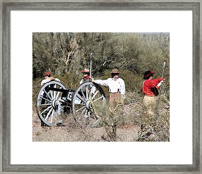 Confederate Battery Framed Print by Joe Kozlowski
