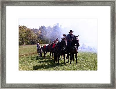 Confederate Caisson And Cannon - Perryville Ky Framed Print