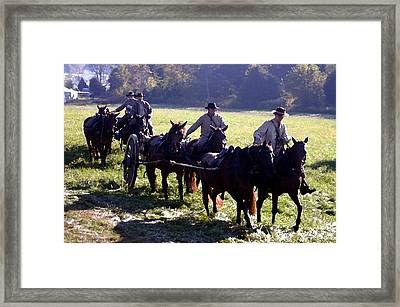 Confederate Caisson Convoy - Perryville Ky Framed Print by Thia Stover