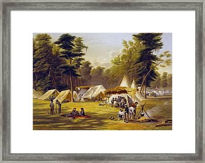 Confederate Camp Framed Print