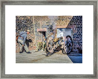 Confederate Cannoneer Framed Print by Rob Sellers