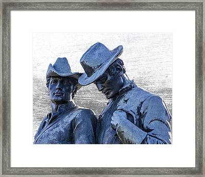 Confederate Cavalry Framed Print by Dan Holland