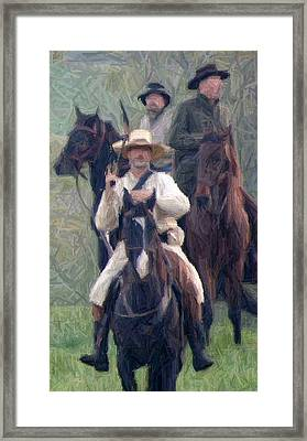 Confederate Cavalry - Perryville Ky Framed Print