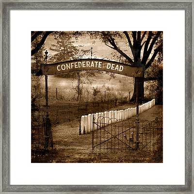 Confederate Dead Framed Print