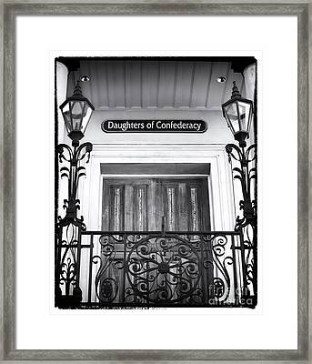 Confederate Door Framed Print by John Rizzuto