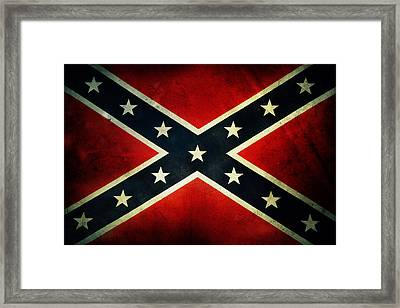 Confederate Flag Framed Print