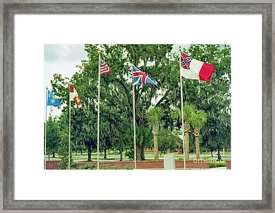Confederate - Flags Of My Ancestors Framed Print by Wayne Nielsen