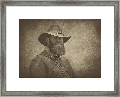 Confederate General Framed Print by Pat Abbott