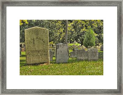 Confederate Graves Framed Print
