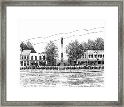 Confederate Monument In Franklin Tn Framed Print by Janet King